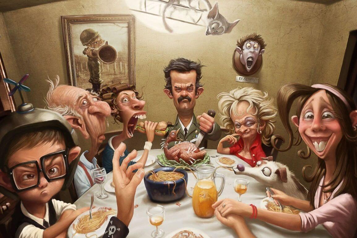 Holiday Thanksgiving Dinner Wallpaper