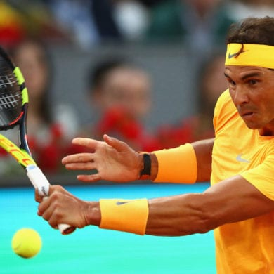Rafael Nadal during third round of 2018 Madrid Open.jpg 11459589 ver1.0 1280 720