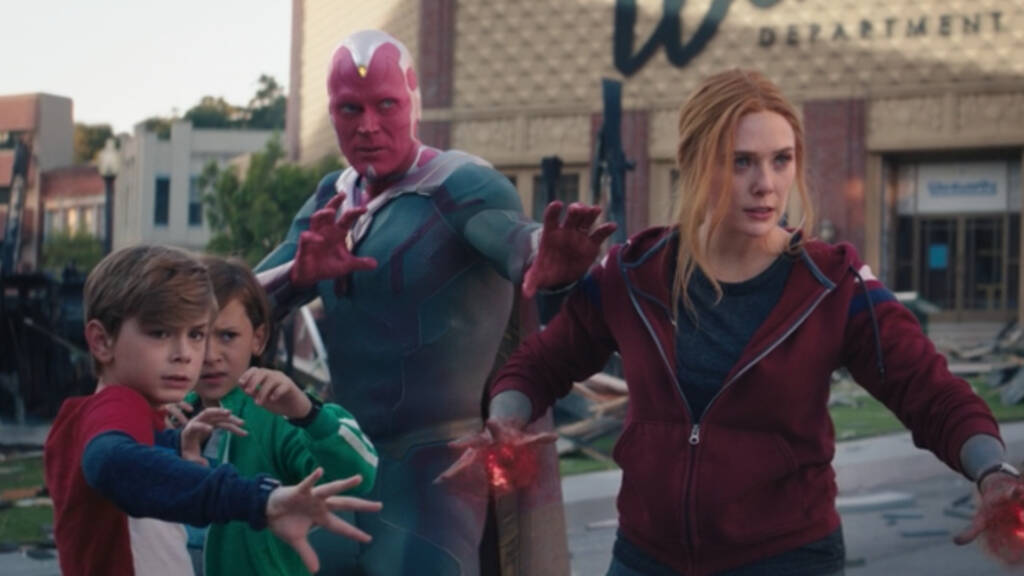 wanda with hex vision and their children