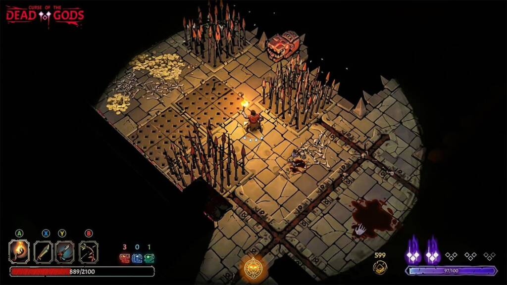 curse of the dead gods videogame