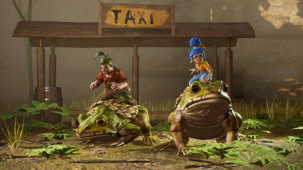 it takes two co op game taxi station